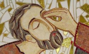 Jesús curando los ojos del ciego Bartimeo